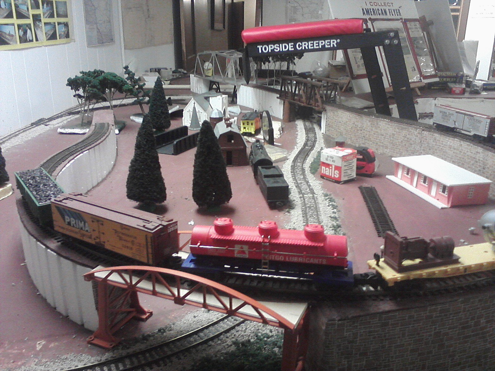 S scale layout 8 X 14